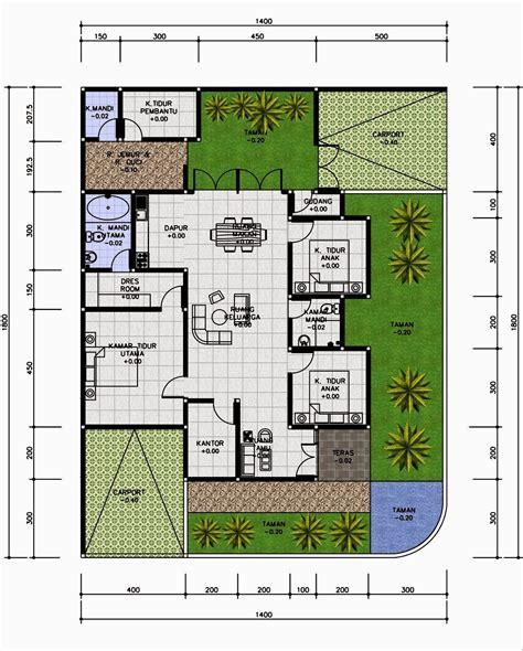 Warning 9 11 Ukuran 3 X 300m desain rumah 4 kamar tidur 1 lantai