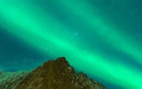 wallpaper northern lights aurora borealis nature