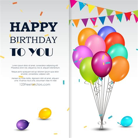 happy birthday background design vector birthday card invitation background design png