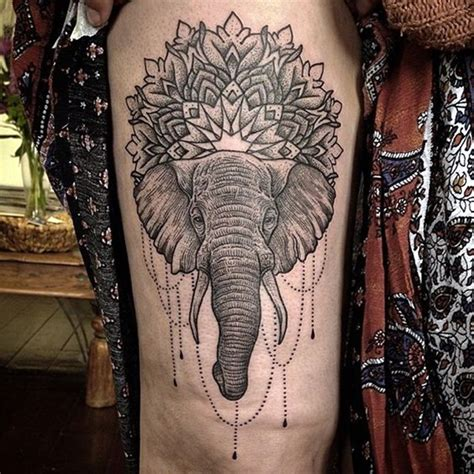 indian pattern thigh tattoo 40 lovely and cute elephant tattoo design bored art