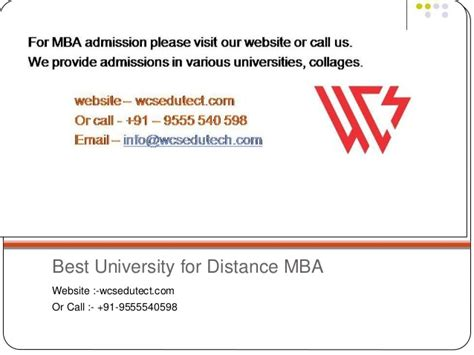 Best Mba Distance Education In India by Best Distance Mba In India