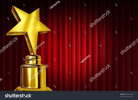 award winning powerpoint templates award on curtains velvet stock illustration