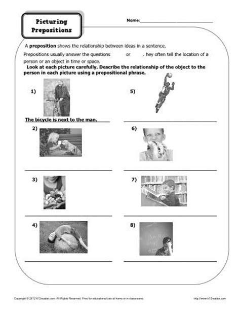 social pattern synonym worksheets for prepositions worksheets