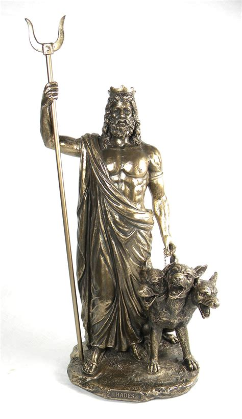 greek gods statues bronze finish greek god hades and cerberus statue