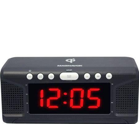magnavox dual alarm clock radio  wireless phone charging