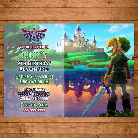 free printable zelda birthday invitations legend of zelda invitation link zelda invite zelda