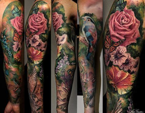 floral sleeve tattoos pesquisa google colorful tattoo