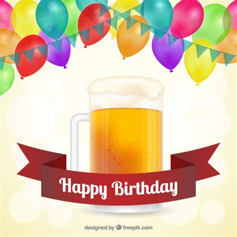 imagenes de feliz cumpleaños con cerveza tarjeta de cumplea 241 os feliz con cerveza descargar