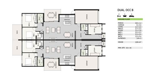 dual living floor plans dual occupancy house plans 28 images dual income plus