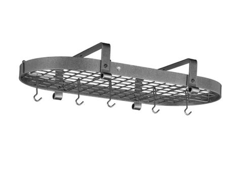 Low Ceiling Pot Rack by Enclume Low Ceiling Oval Pot Rack Hammered Steel