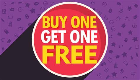 buy one buy one get one free discount voucher vector design