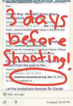 The website was put up 3 days before the sandy hook shooting occurred