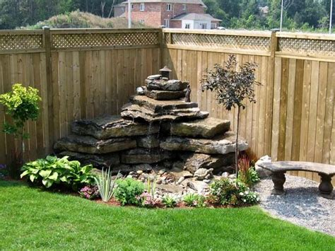 Water Fountains For Small Backyards by Backyard Water Feature Backyards Backyard