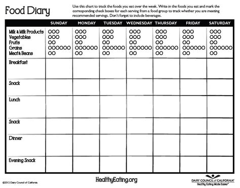 printable food diary booklet download this free food diary it is a great tool to track
