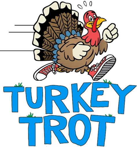 Turkey Trot Clipart peace and 8 days of healthy tips before thanksgiving tip 1