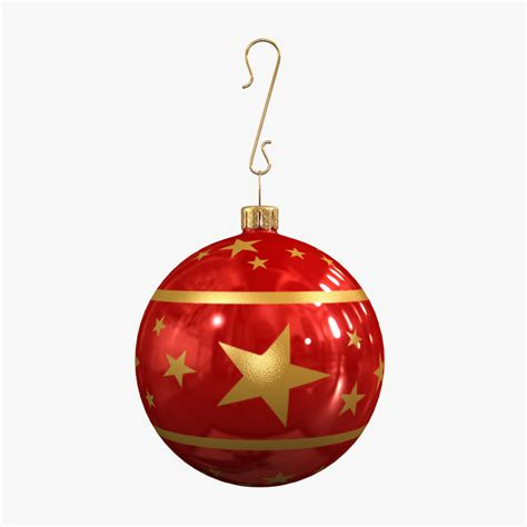 christmas ball decoration 3d max
