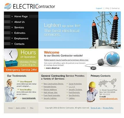 10 Most Popular Electrical Website Templates Tonytemplates Blog Electrician Website Template