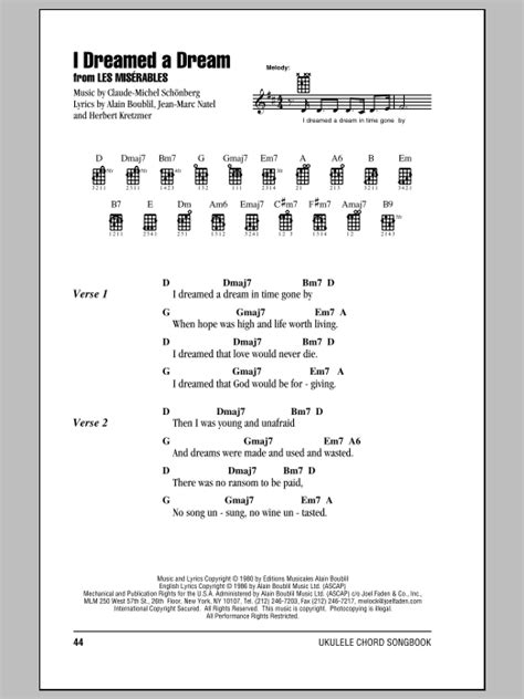 I Dreamed A Dream Guitar Chords