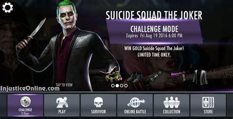 injustice mobile challenge squad the joker challenge for injustice mobile
