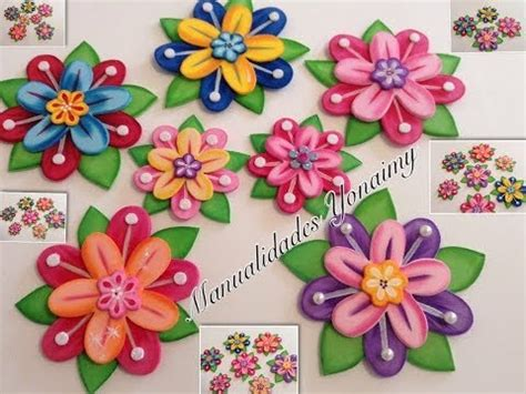 flores de foamy o goma eva planas o con termoformado fino flores hechas con termoforma en foami imagui