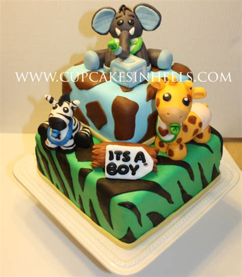 Baby Safari Animals Baby Shower Cake (Elephant)   CakeCentral.com