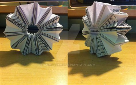 Origami Wheel - origami accordion wheel by complexme on deviantart