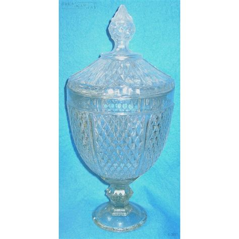 Large Glass Vase With Lid Gv15 Large Footed Vase With Lid Breakaway Effects Ltd