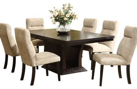 espresso dining room set homelegance avery 7 piece pedestal dining room set in