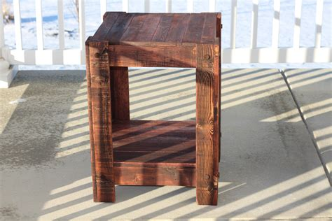 end tables made from pallets white end table made from pallets plans included