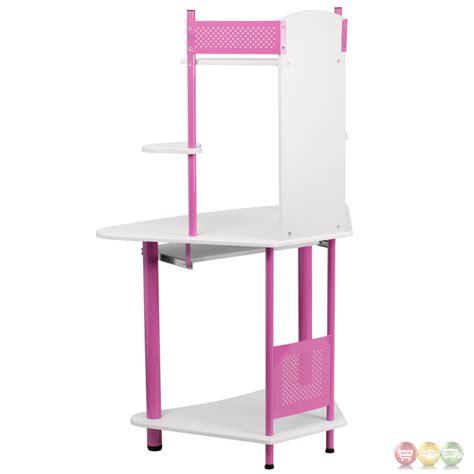 Pink Corner Computer Desk With Hutch Nan Jn 2705 Pk Gg Pink Corner Desk