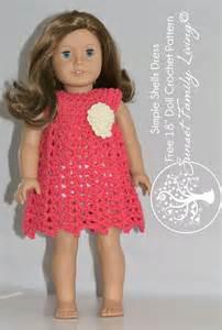 Simple shells dress for 18 dolls free crochet pattern sunset