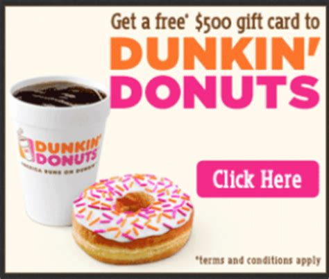 Dunkin Donuts Survey 25 Gift Card - how to get free dunkin donuts gift card the legal way free stuff tutorials