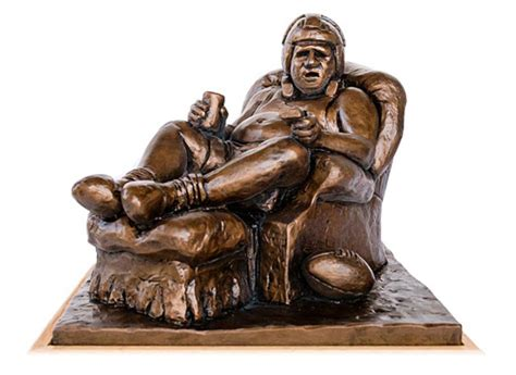 armchair qb fantasy football trophies handmade in brooklyn