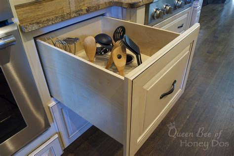 deep drawer kitchen cabinets remodelaholic diy upright utensil drawer organizer