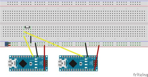 adding pull up resistor to arduino 2 arduino controller boards 1 shared input arduino stack exchange