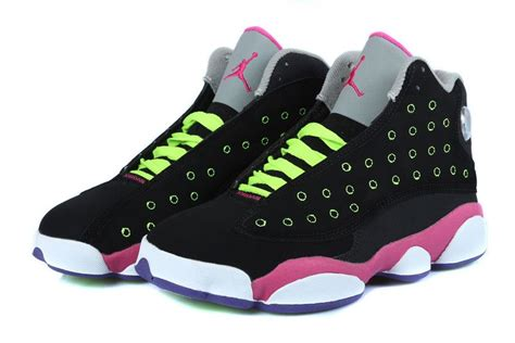newest sneakers 2015 air 13 retro black pink venom green for sale