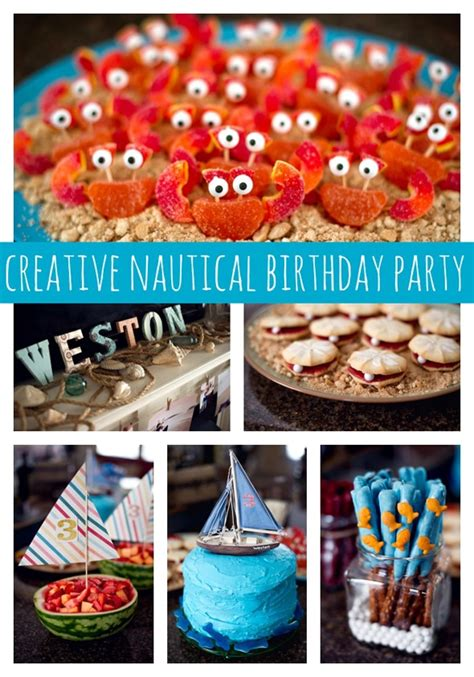 love boat theme party food creative nautical birthday party pretty my party