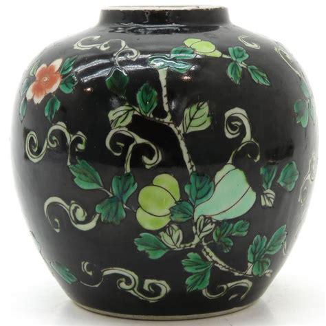 Porcelain Famille Noir Jar L By Paul China Porcelain Famille Verte Famille Noir Jar