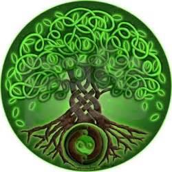Circle celtic tree of life cork coaster by artoffoxvox