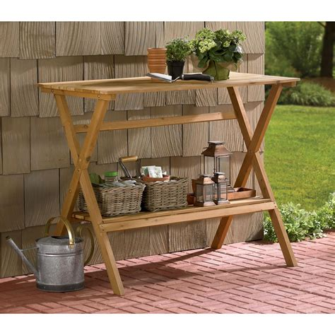 cheap potting bench merry products console table simple potting bench