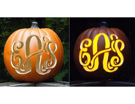 monogrammed pumpkins halloween pinterest