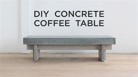 a concrete table top diy coffee table with a concrete top