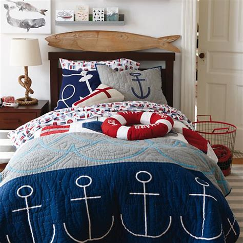 boys nautical bedding kids throw pillows kids red white cotton nautical