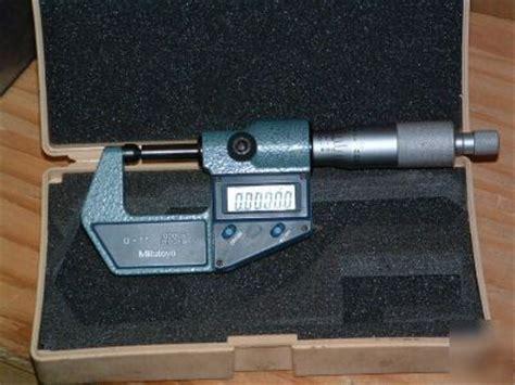 Welding Mitutoyo Mitutoyo 0 1in Digital Outside Micrometer