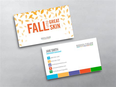 Rodan And Fields Business Cards Template by Rodanandfields Template 14
