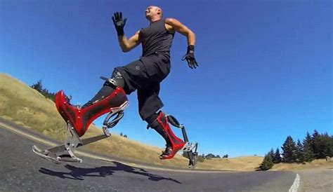 shoes that make you run faster bionic boots mimic ostrich s gait to let wearers travel at