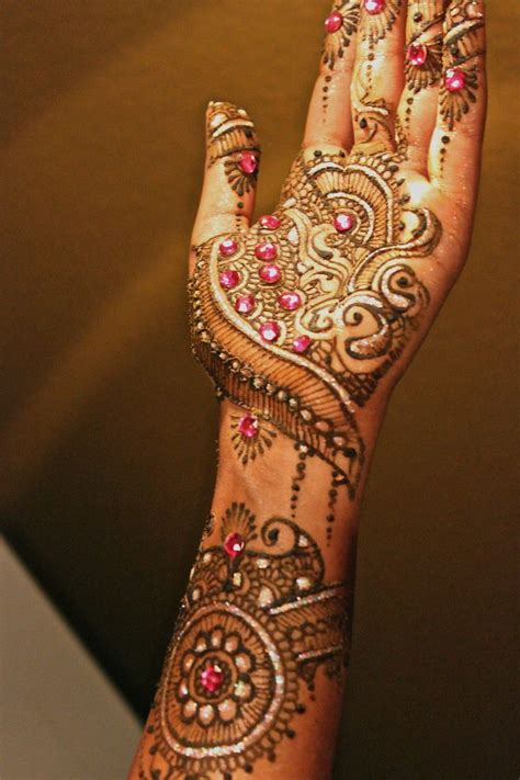 Henna Design With Glitter | glitter and gemstones photo km henna design henna