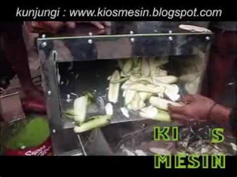 mesin perajang pengiris potong keripik pisang