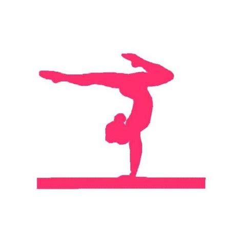 printable gymnastics art gymnastic silhouette decals pink gymnastics silhouette