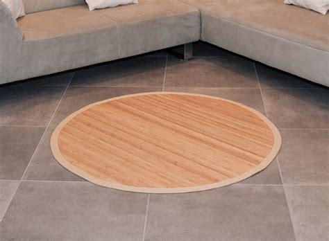 teppich wohnzimmer rund bambusteppich rund runder bambus matte teppich vorleger